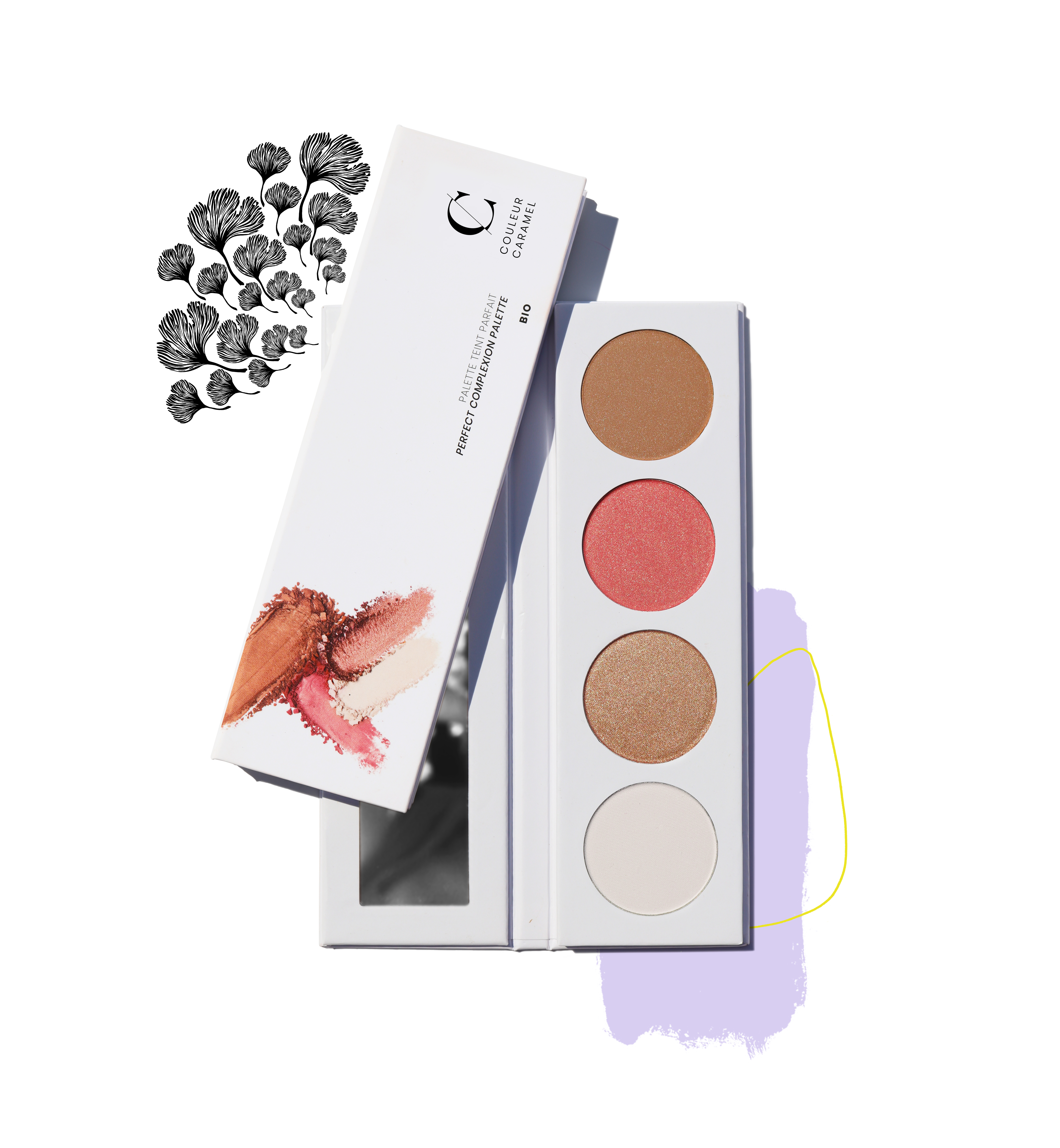 ILLUSTRATON PALETTE TEINT CHAUD 41
